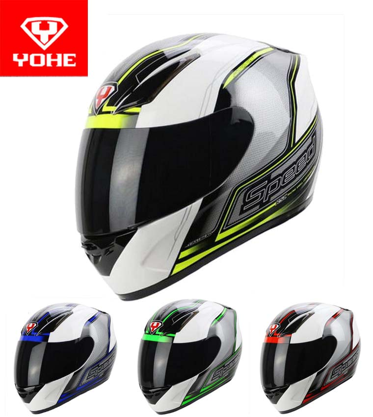 2016 New YOHE full face Motorcycle Helmet High Quality ABS Moto Racing Helmet YH-991 SPEED RSC white red/blue/yellow/green color yohe undrape face motorcycle helmet yh 936 open face moto racing helmets made of abs visor is for pc material