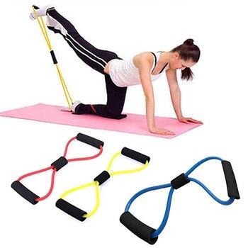 Bandas de resistencia para Yoga, banda elástica, extractor de ejercicios deportivos, expansor de pecho en forma de 8 para construcción de cuerpo, gimnasio en casa, equipo de Fitness 1
