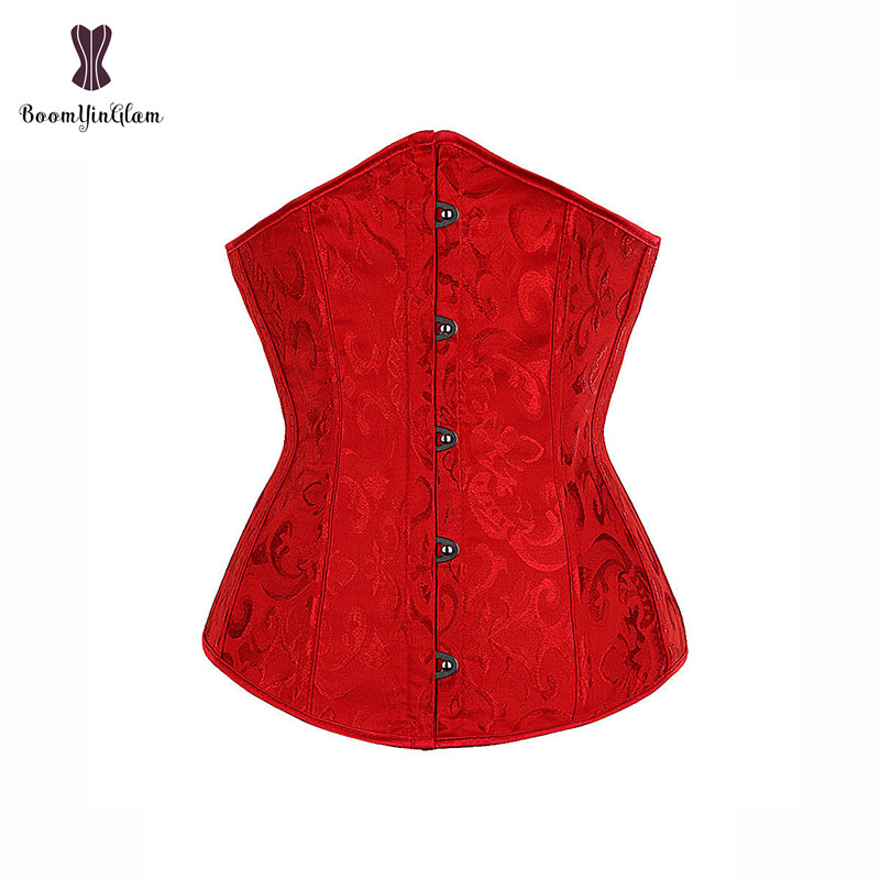 High quality women sexy slimming waist cincher red mini cupless   corset   vintage costume underbust   corset   XS-6XL size 2833