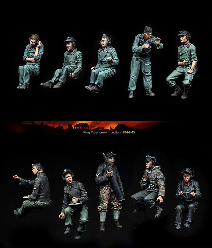 1 35 Uncolor Armored panther crew 10 soldiers toy Resin Model Miniature resin figure Unassembly Unpainted