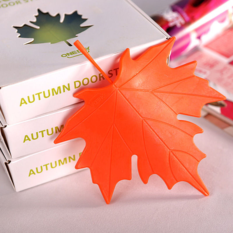 Maple Autumn Leaf Style Home Decor Finger Safety Door Stop Stopper Doorstop Hardware Door Hardware & Locks