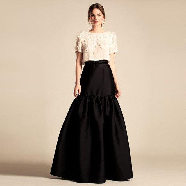 Aliexpress.com : Buy 2016 Graceful Black Long Skirts High Waist ...