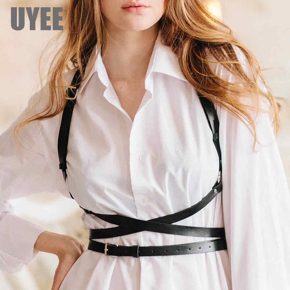 UYEE Trendy Leather Harness Sexy Lingerie Belt Adjustable Leather Garter Women Straps For Female Erotic Waist Body Suspenders 1