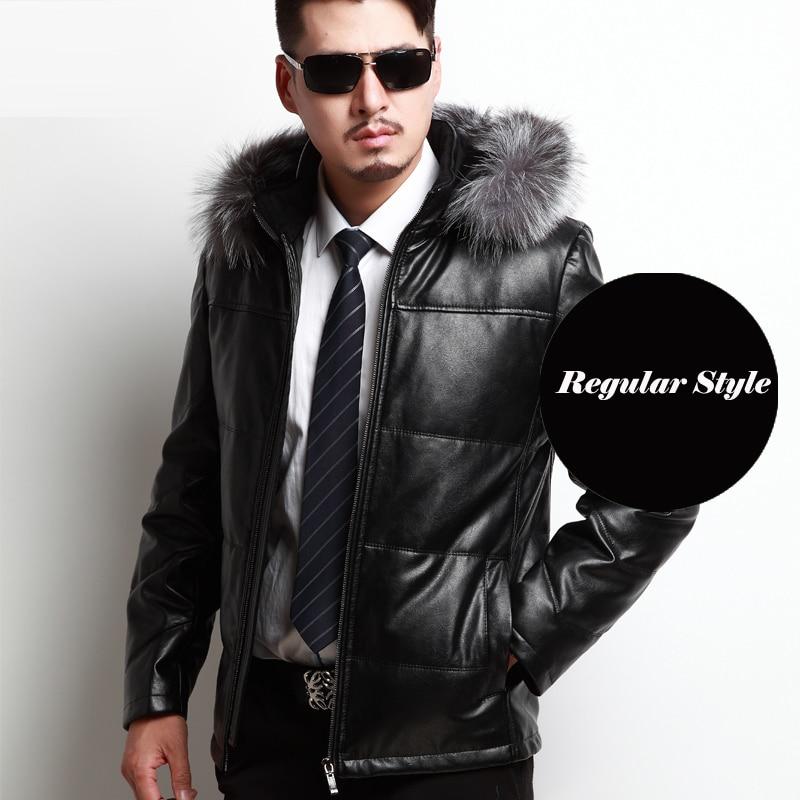 Aliexpress.com : Buy 2017 New Fur Hood Men Leather Coats Winter ...