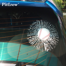 Car Styling Funny DIY 'Ball Hits Window' Car Covers Vinyl Stickers Self Adhesive Car Decals Creative Auto Accessories