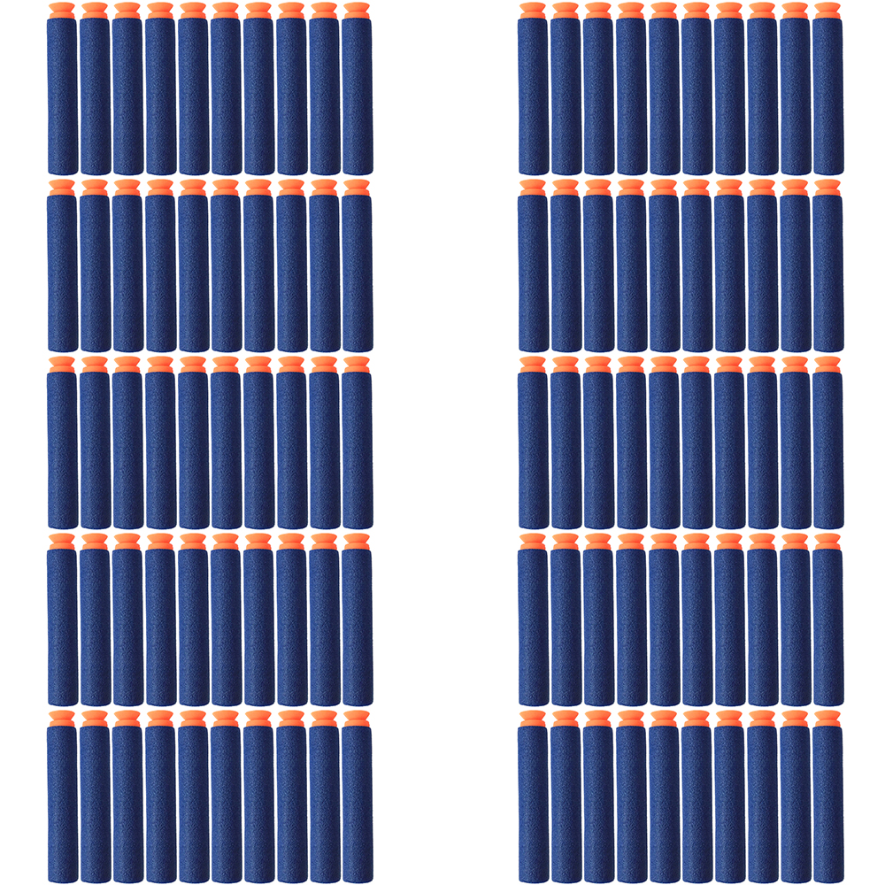 Купить с кэшбэком 100 pcs/lot Blue Soft Bullet Sucked Head Foam Bullets for Nerf N-strike Elite Series