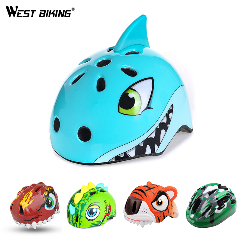 Kids Bike Helmets Boys Sports Helmet 3D Cartoon Helmets for Skating Cycling