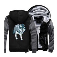 Wolf Hip Hop Hoodies Men 2019 Spring Winter Warm Tracksuit Harajuku Sweatshirts Animal Hooded Adult Outwear Coat CM01