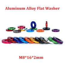 10pcs M8*16*2mm Aluminum flat washer for RC Model Part Anodized Red/ Black /Blue/ gold Aluminum countersunk Gasket Washer meson