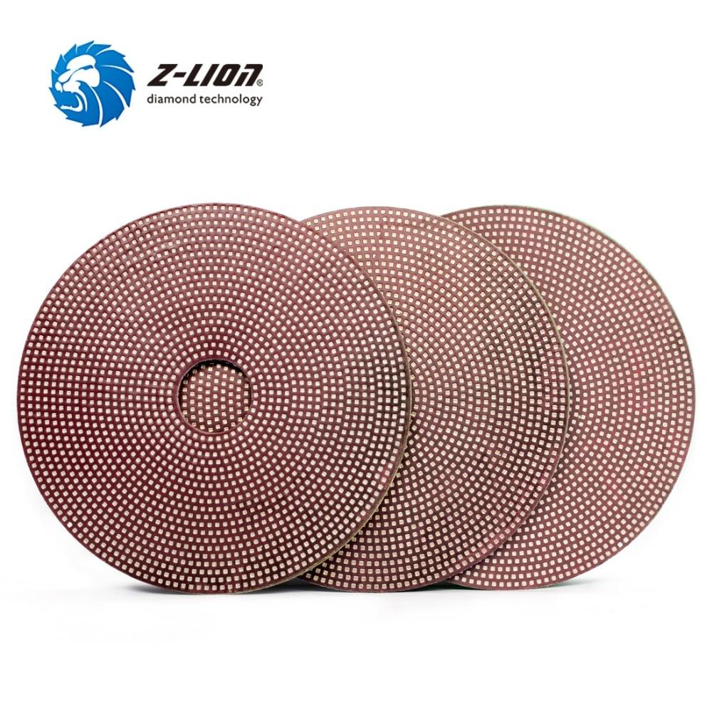 Z LION 3pcs Diamond Electroplated Polishing Pads 4inch grit 800 1500 3000 Flexible Diamond Sanding Disc
