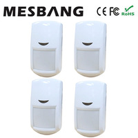 Hot 4 Piece Lot Wireless Infrared Detector Pir Detector Sensors 433MHZ For GSM Alarm System Free