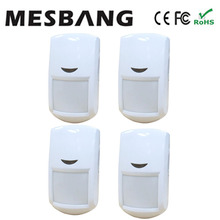 hot 4 piece/ lot wireless infrared detector pir detector sensors 433MHZ  for GSM alarm system   free shipping