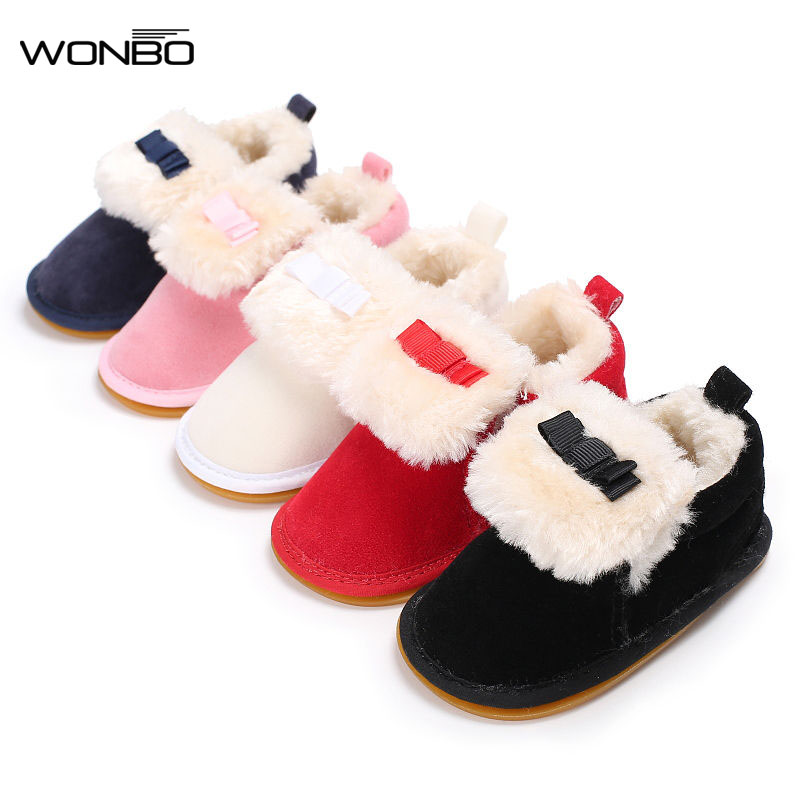 Newborn Baby Boots Winter Supper Keep Warm First Walkers Crib Bebe Infant Toddler Kids Soft Rubber Soled Outdoor Sneakers Booty