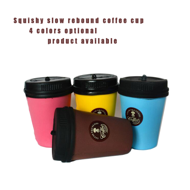 Squishy Cute Soft Wet Slow Rebound Simulation Foam Coffee Cup Creative Fun Gift Adult Children Squeeze Toys 10 Cm