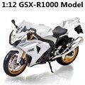 1:12 Сплава модель мотоцикла, высокая моделирования литья металла мотоцикл игрушки, GSX-R1000, бесплатная доставка