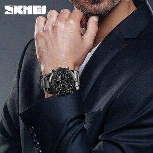 Image 2 - SKMEI 디지털 시계 남자 패션 남자 시계 전체 철강 비즈니스 남자 시계 럭셔리 남성 시계 탑 스포츠 시계 Reloj Hombre