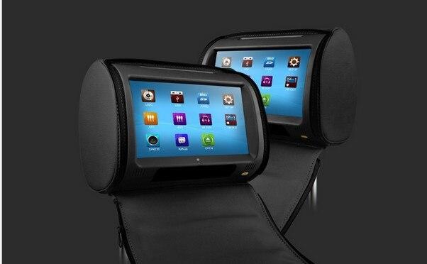 Черный 2x9 Сенсорный экран подголовник автомобиля dvd-плеер автомобиля Подушки Детские Мониторы ИК/fm-передатчик 800*480 и 1 геймпад