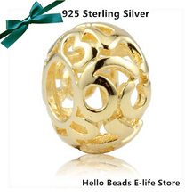 Free Shipping 925 Sterling Silver Arabic Number Gold Plated Charm Accessories Bead Fits For Bracelet & Necklace 1pc/lot VK0887