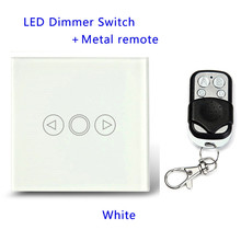 PWM Triac LED Dimmer Switch For Dimmable Spot Lights 1 Gang with metal remote,EU/UK Standard Touch Switch