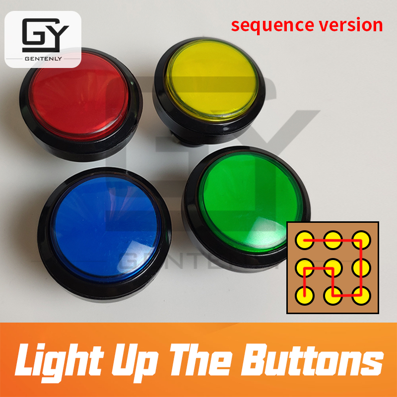 Escape room Prop Light up the buttons in correct sequence to unlock real life adventure secret