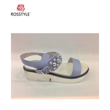 ROSSTYLE Beach Sandals Shoes Ladies Flats Sneakers Red White Purple Summer Genuine Leather Shoes Woman Sandals Casual Shoes S2