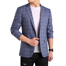 MarKyi fashion plaid print men business blazers casual plus size 4xl suits and for