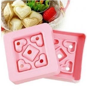 커터 도구 용품 광장 및 심장 모양 샌드위치 메이커 빠른 아침 식사 금형 DIY 케이크 빵 토스트 금형