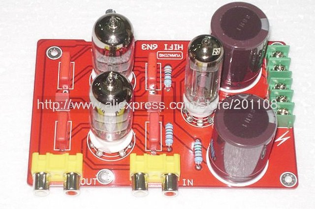 F196A DIY Amplifier Board Improved Audio Tube Pre-amp Bile tube rectifier 6N3