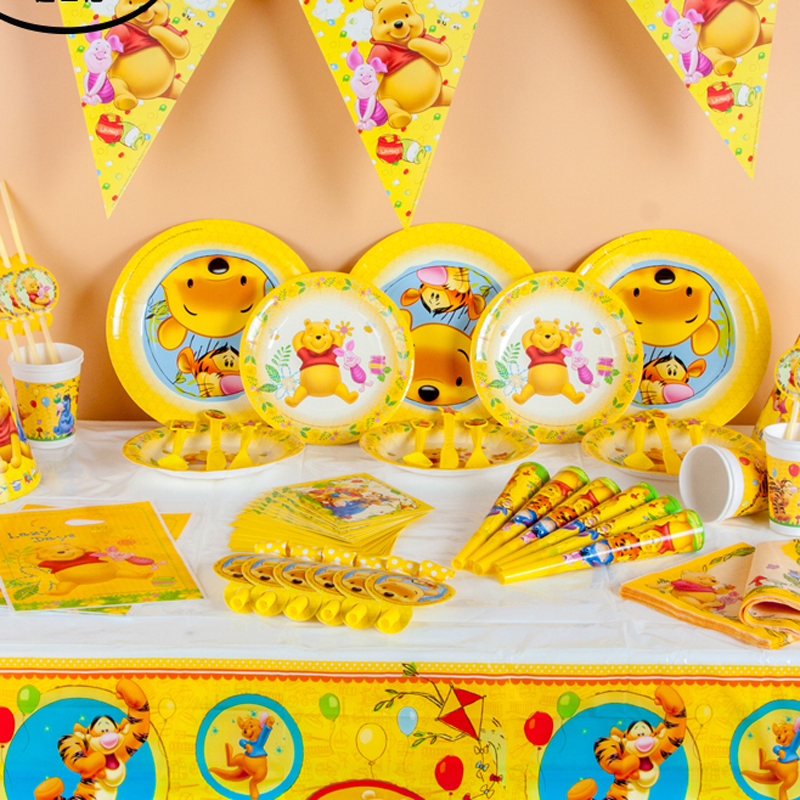 Winnie the Pooh Kids Birthday Party Decoration Set Cars Plex Party Supplies font b Baby b