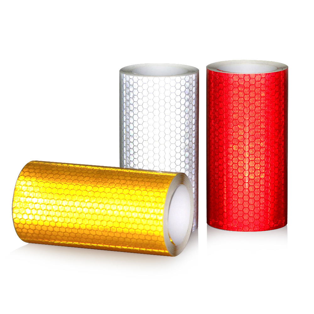 10cmx3m Safety Mark Reflective tape stickers car styling Self Adhesive Warning Tape Automobiles Motorcycle Reflective Film Decal-in Car Stickers from Automobiles & Motorcycles