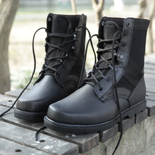 Mountain climbing Winter sneakers Military tactical boots Hunting Fishing Trekking Walking Leather sneakers Army Black boots