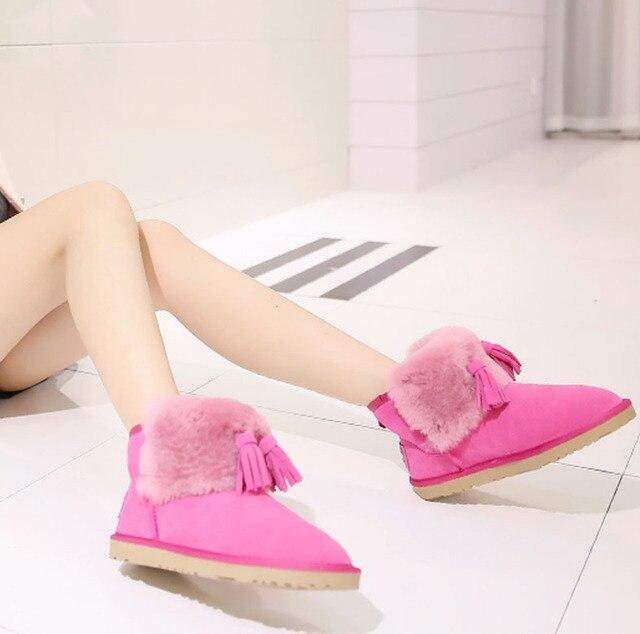 Бесплатная доставка новое поступление мода китай классический короткие зимние сапоги реального овчины женские ножной браслет мини снегоступы женская обувь