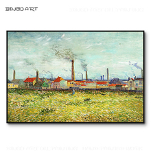 Reproduce Vincent Van Gogh Artwork Village Oil Painting Hand-painted Impressionist for Wall Art Decoration