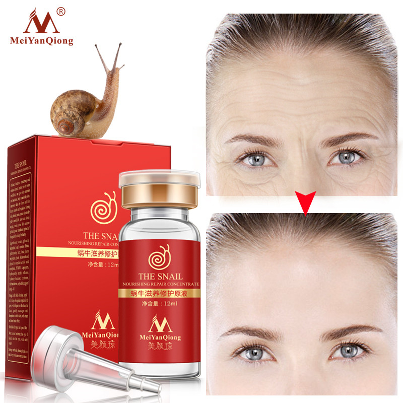MeiYanQiong Snail Essence Hyaluronic Acid Liquid Whitening Spot Shrink Pores Ampoule Anti-Acne Regenerative