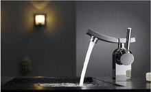 Nouvelle arrivée chrome en laiton de haute qualité froide et chaude salle de bains robinet de bassin évier robinet mélangeur de bain robinet