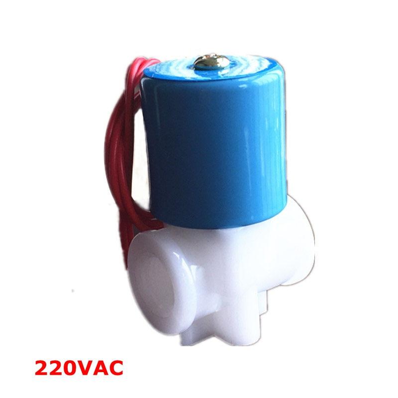 Livraison gratuite 220Vac électrovanne, 1/4 valve eau normalement fermé 2 Voies 0-120PSI,