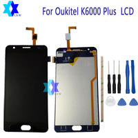 For Oukitel K6000 Plus LCD Display Touch Screen Panel Digital Replacement Parts Assembly Original 5 5