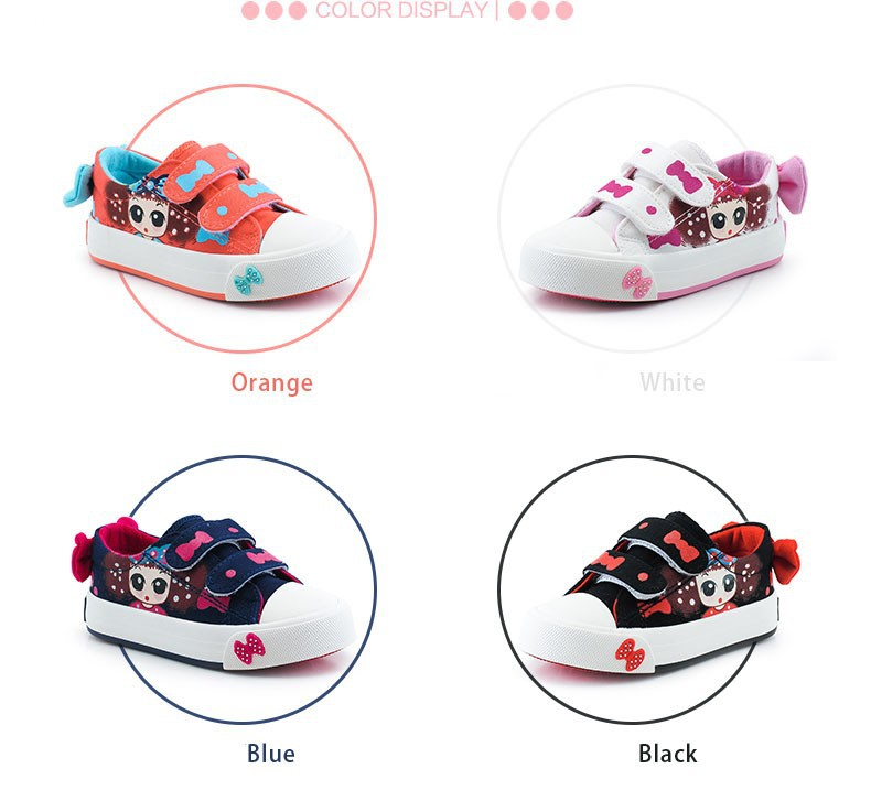 Canvas Children Shoes 17 New Baby Girls Princess Shoes Brand Kids Sneakers for Girls Denim Child Flat Toddler Shoes 3