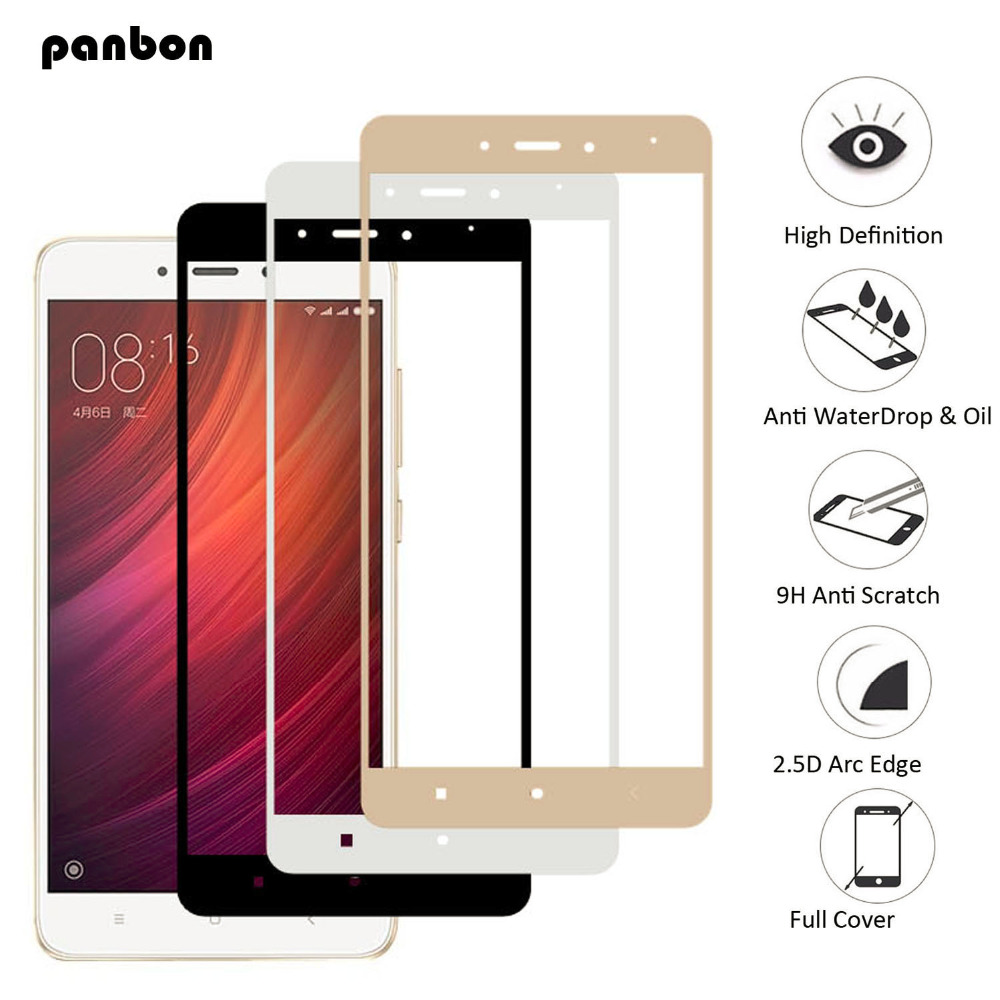 Panbon For Xiaomi Redmi Note 4 4x Glass Full Cover Screen Protector Tempered Cafele Original 5 Film Note4 Note4x In Phone Protectors From Cellphones