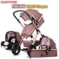 3 en 1 cochecito de bebé dos suspensión plegable ploughboys recién nacido cochecito de bebé pinturicchio centenario
