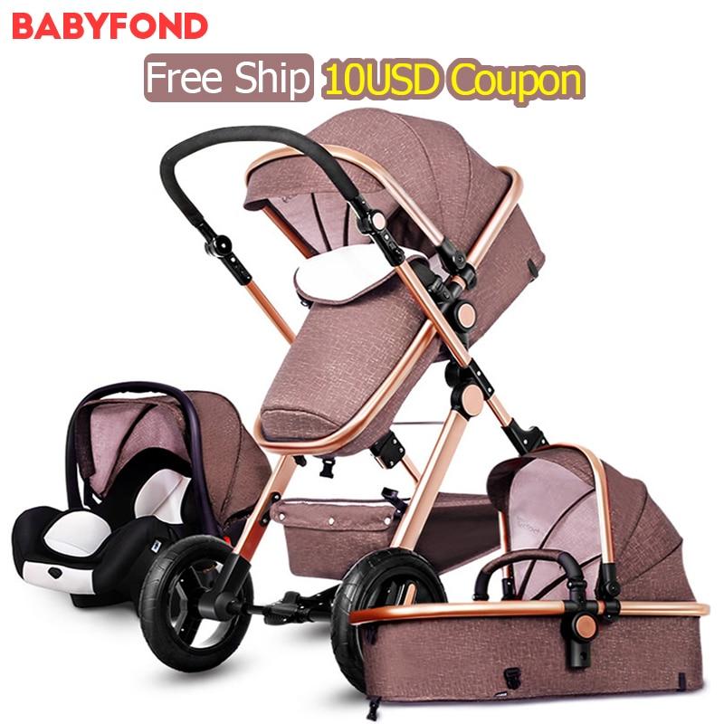 3 in 1 Baby stroller two-way suspension folding ploughboys newborn baby stroller pinturicchio centenarian pinturicchio centenarian four wheel baby stroller baby newborn buggiest shock absorbers dual