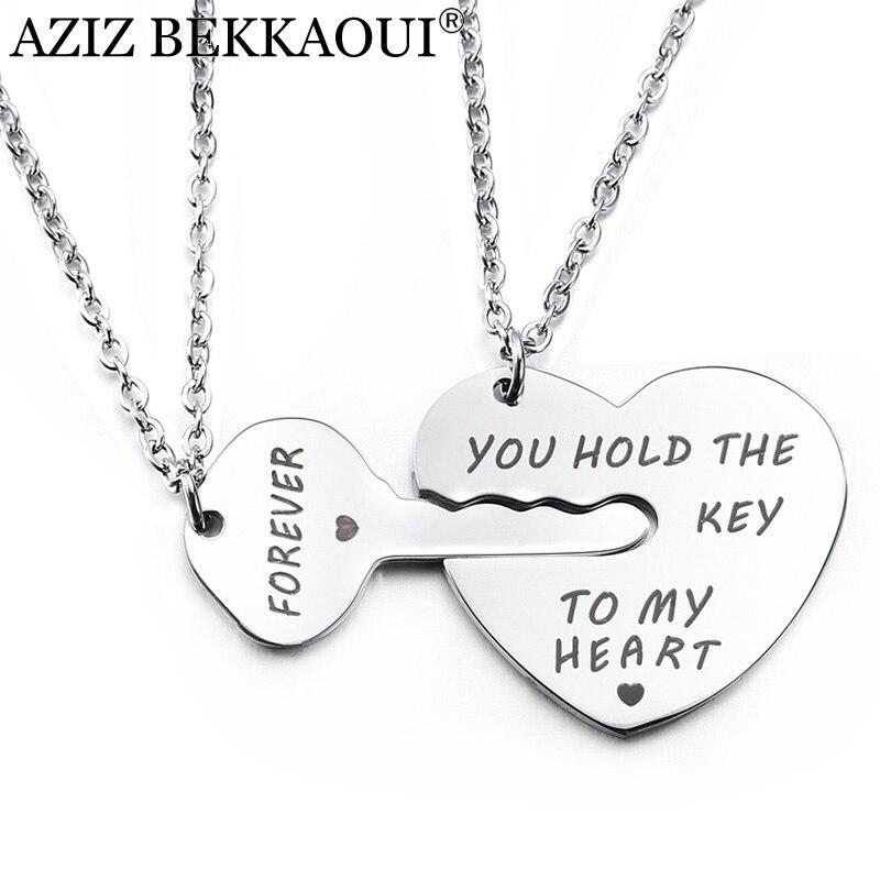 Azizz BEKKAOUI llavero y corazón pareja collar Tienes la llave de mi corazón colgante para siempre collares para amantes de la moda regalo de la joyería Relojes de cuarzo para parejas y amantes de la marca superior de CHENXI para hombre, relojes de regalo de San Valentín para mujer, relojes de pulsera impermeables de 30m para mujer