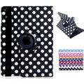 Полька Dot Печати 360-градусный Искусственной Кожи Флип Чехол с Подставкой для iPad Air 2