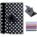 Polka Dot Print 360-Degree Rotation Faux Leather Flip Case with Stand for iPad Air 2