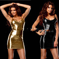 HOT Sexy Faux Leather Pole Dance Wear Catsuit Dress Night Club Fantasias Sexy Bodysuit Erotic Products Mini Dress FX012