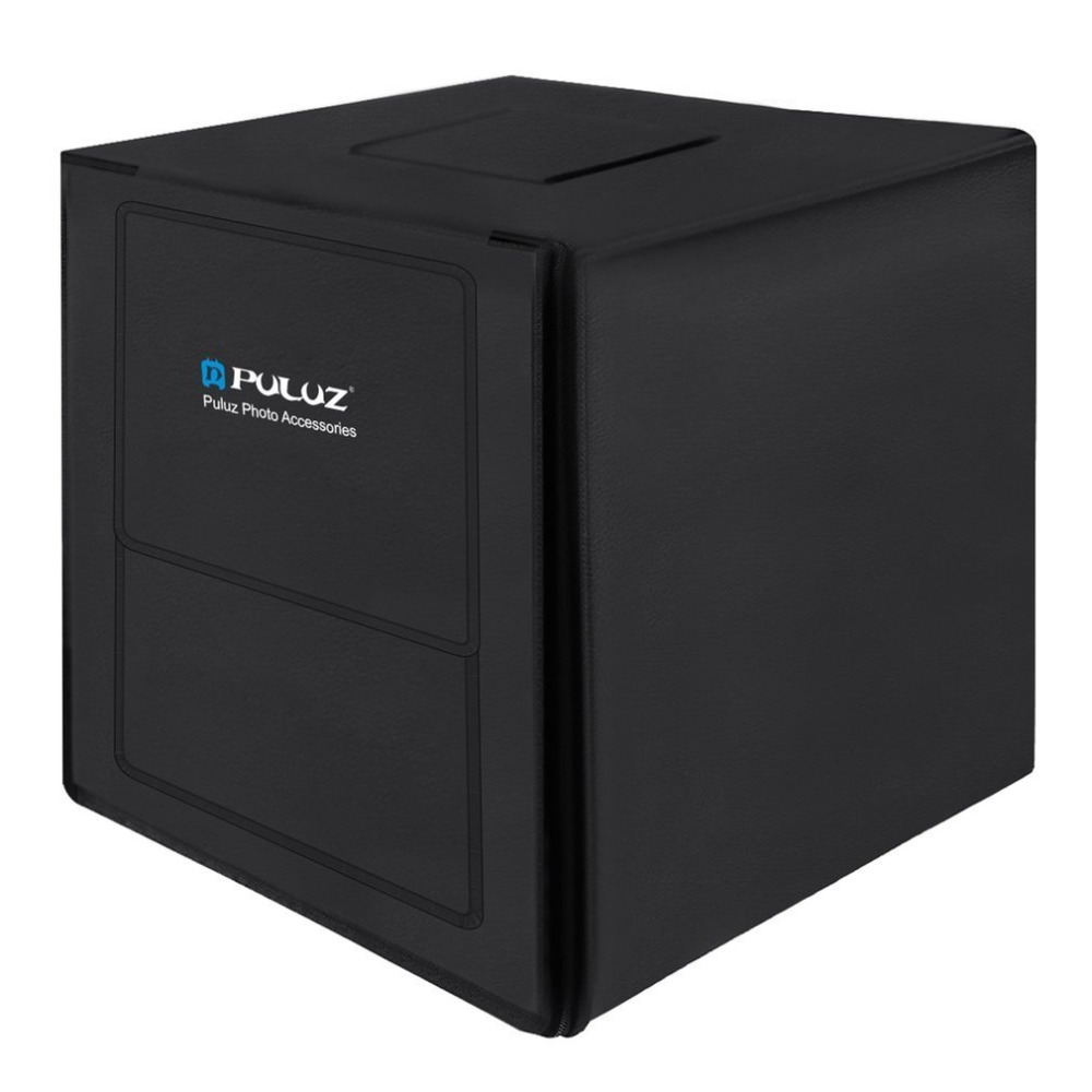 PULUZ 80cm Photo Studio Softbox EU Plug Lightbox White Light Photo Lighting Studio Shooting Tent Box Kits & Photography Backdrop