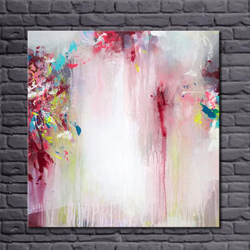 Simple abstract oil painting acrylic on canvas 100 - Oil painting ideas for living room ...
