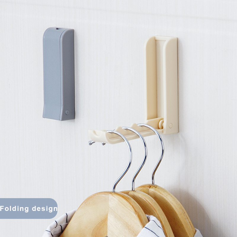 Plastic Folding Clothes Hanger Wall Hook Closet Organizer
