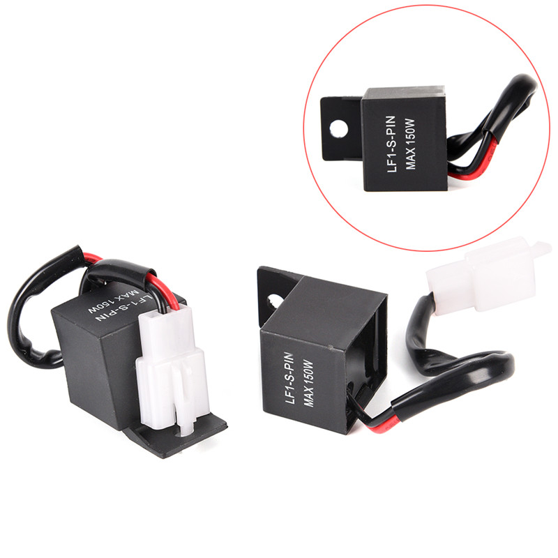1x 2 Pin Electronic Led Flasher Relay Fix Hyper Flash