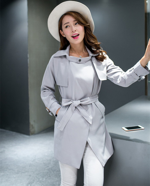 2016 New Arrive Hot Selling Fashion Women Spring Korean Trench Coat Women Windbreaker And coat Plus Size S-XXL